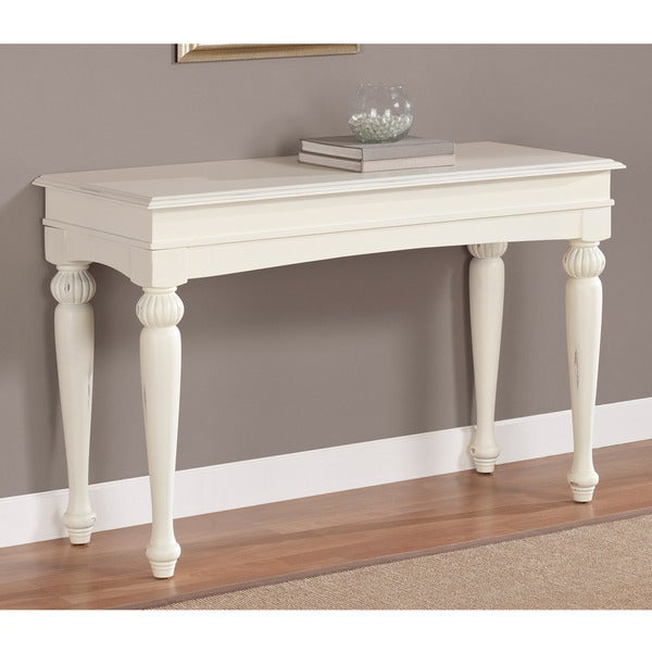 White Console Table : ... White-Wood-Contemporary-Style-Living-Room-Side-Accent-Console-Sofa