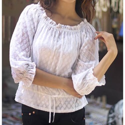 Cotton 'Summer Breeze' Blouse (India)