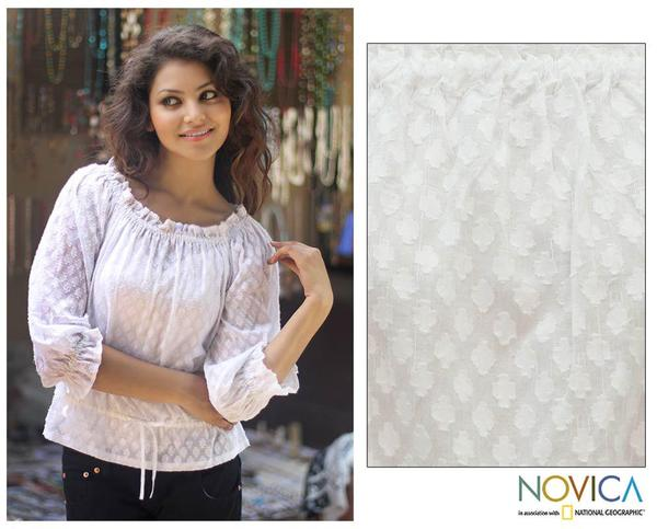 Cotton 'Summer Breeze' Blouse (India)