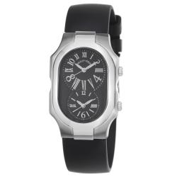 Philip Stein Women's 'Signature' Black Dial Dual Time Quartz Watch