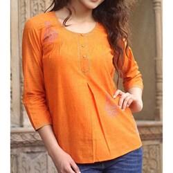 Cotton 'Rajasthan Sun' Blouse (India)