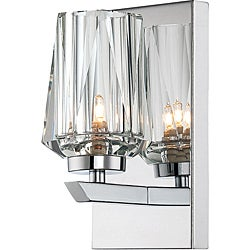 Shar-pei 1-light Bath with Crystal Shade