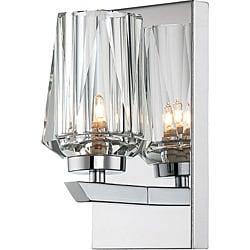 Ginsu 1-light Bath with Crystal Shade