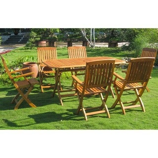 International Caravan Royal Tahiti Andorra 7-Piece Outdoor Dining Set