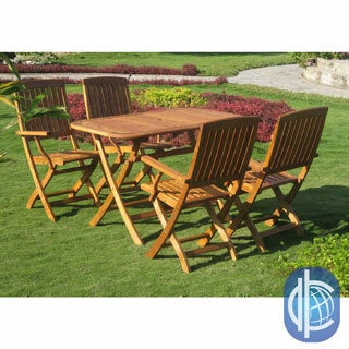 International Caravan Royal Tahiti Almeria 5-Piece Outdoor Dining Set