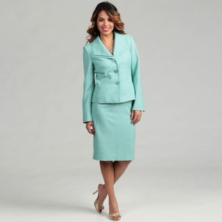 Evan Picone Women's Opal 3-button Skirt Suit