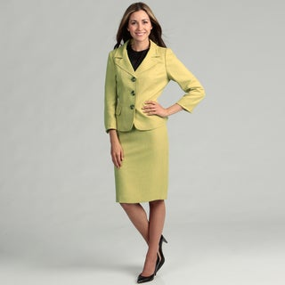 Evan Picone Women's Three-button Skirt Suit