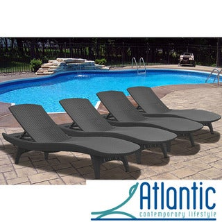 Mykonos Grey Loungers (Set of 4)