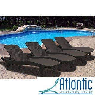Mykonos Brown Loungers (Set of 4)