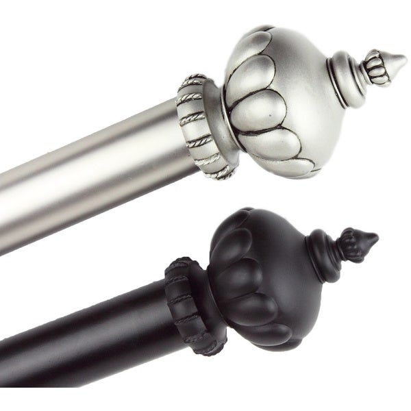 Stately Decorative Adjustable Curtain Rod Set