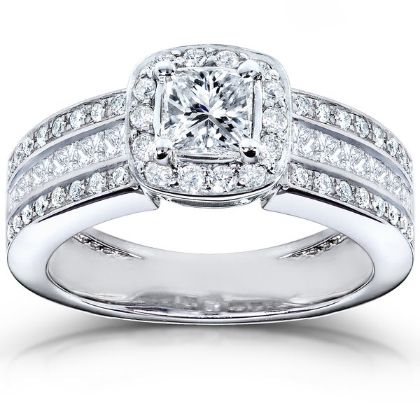 Annello 14k White Gold 1ct TDW Diamond Engagement Ring (H-I, I1-I2)