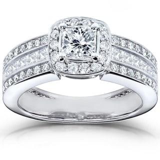 Annello 14k White Gold 1ct TDW Diamond Engagement Ring (H-I, I1-I2)