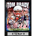 New England Patriots Tom Brady Stat Plaque 2