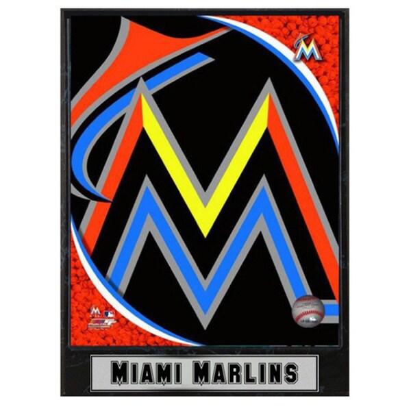 Miami Marlins Logo Plaque (9 x 12)