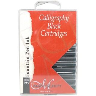 Manuscript 30-piece Calligraphy Black Cartridges