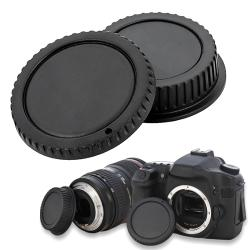 BasAcc Camera Body Cap and Rear Lens Cover Cap for Canon EOS