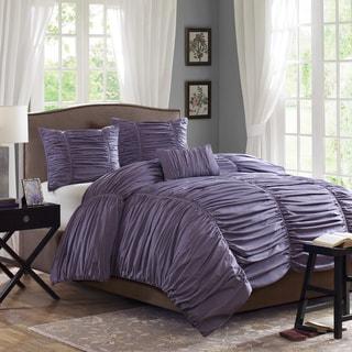 Madison Park Melrose Plum 4-piece Comforter Set