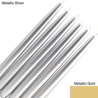 Metallic 12-Inch Taper Candles (Case of 144)