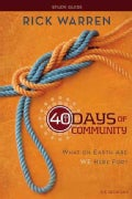 40 Days of Community: What on Earth Are We Here For? (Paperback)