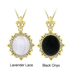 Glitzy Rocks Goldtone Bronze Onyx Or Lace Fashion Necklace