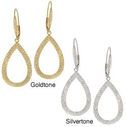 Icz Stonez CZ Teardrop Dangle Earrings
