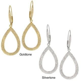 Icz Stonez CZ Teardrop Dangle Earrings
