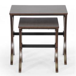 Xavier Brown MDF/ Steel Modern Nesting Table Set