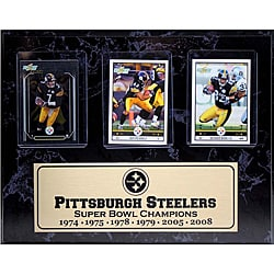 Pittsburgh Steelers 6-time Champion 3-card Plaque