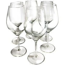 Illuminati 15oz Crystal Red Wine Glasses (Pack of 6)