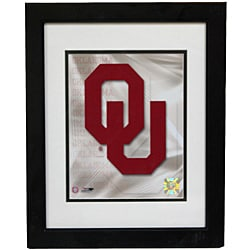 University of Oklahoma Logo Deluxe Frame