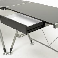 Elburn Dark Brown L-Shaped Modern Computer Desk