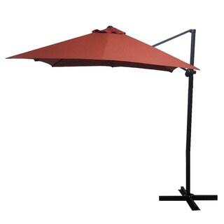 Elegant Brick Red Square Steel Offset Umbrella
