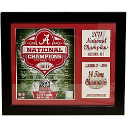 University of Alabama 2011 National Champion Deluxe Stat Frame