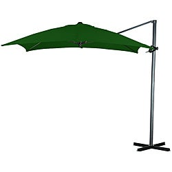 Elegant Hunter Green Offset Square Steel Umbrella