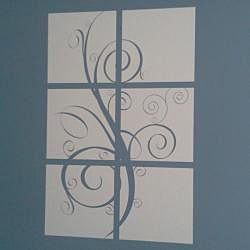 Vinyl Letter Decor 'Tree Branch' 6-panel Wall Decal