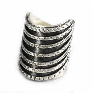 Thai Karen Hill Tribe Tribal Stack Illusion Handmade Silver Ring (Thailand)