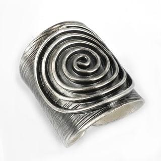 Thai Karen Hill Tribe Maze Swirl Handmade Silver Ring (Thailand)
