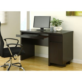 Mainstreet Cappuccino Office Desk with Keyboard Tray