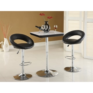 Furniture of America Striking Glassy Adjustable Bar Table