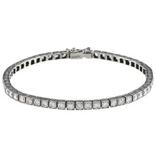 Platinum 5ct TDW Diamond Antique Tennis Bracelet (I-J, SI1-SI2)