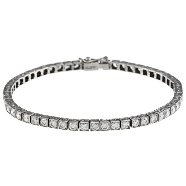 Pre-owned Platinum 5ct TDW Diamond Antique Tennis Bracelet (I-J, SI1-SI2)