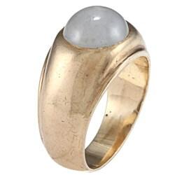 14k Yellow Gold Star Sapphire Gypsy Estate Ring