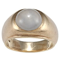 14k Yellow Gold Star Sapphire Gypsy Estate Ring