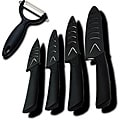 Dr. Tech 5-piece Ceramic Knife Set with Sheath and Peeler