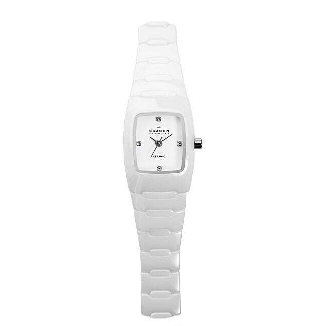 Skagen Women's Ceramic Rectangle Watch