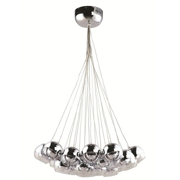Cup 20-light Stainless Steel Hanging Chandelier 8948206