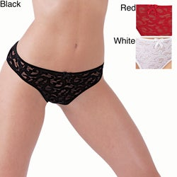 Ilusion Women's Sheer Lace Bikini Panties