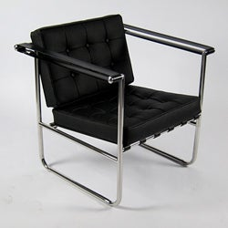 Celona Black Leather Chair