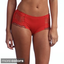 Ilusion Women's Lace Side Boyshort Panties