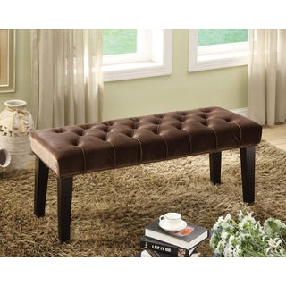 Furniture of America Bellen Button Tuft Bench